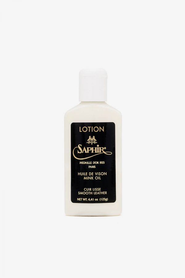Saphir Leather Lotion – Hoitoaine asusteille ja kengille