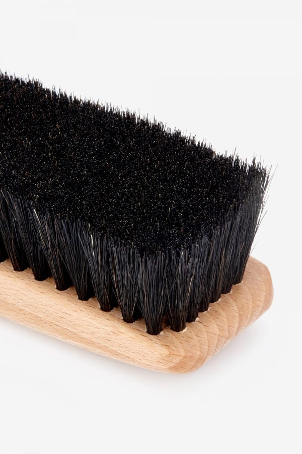 Redecker Leather Brush Black – Musta nahkaharja