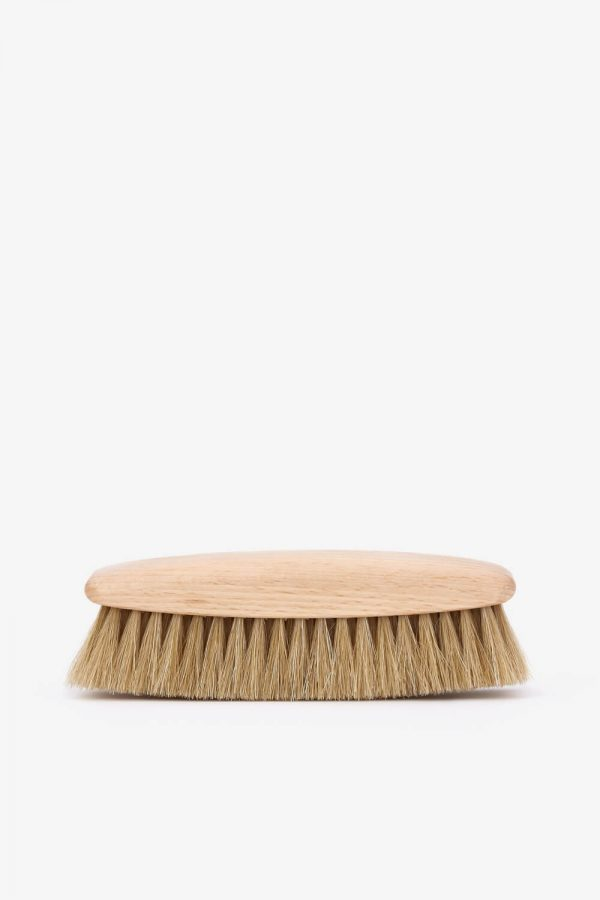 Redecker Leather Brush Natural – Vaalea nahkaharja
